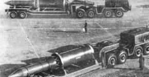 Ракеты РТ-15 или их макеты на Параде на Красной площади, середина 1960-х годов