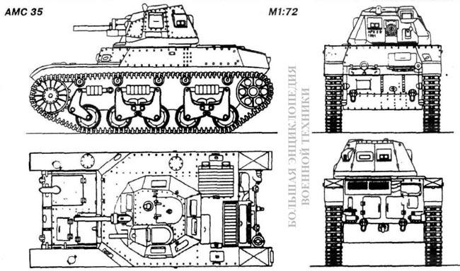 Общий вид танка AMC 35