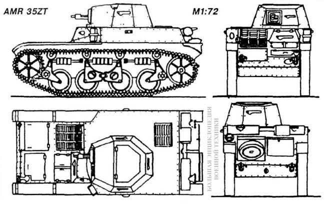 Общий вид легкого танка AMR 35