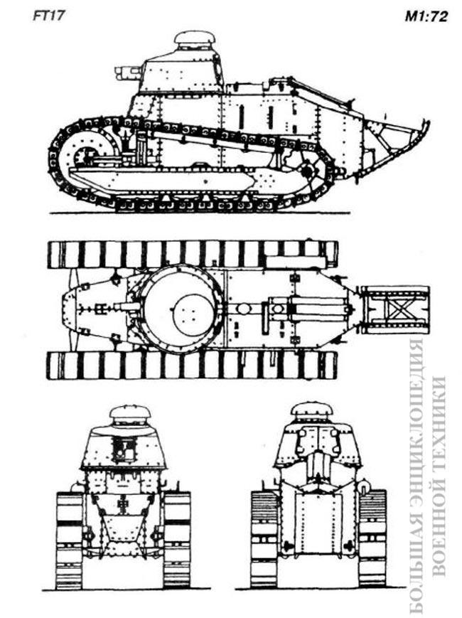 Общий вид легкого танка FT17