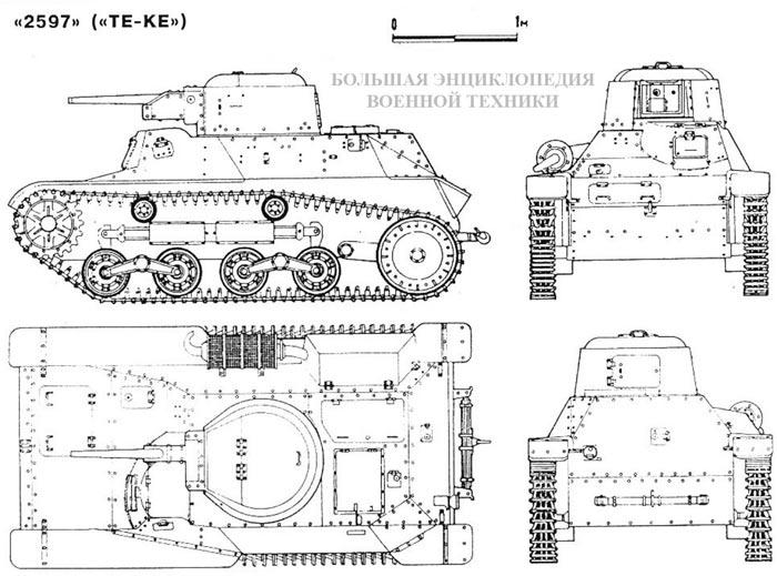 Общий вид малого танка «2597» («ТЕ-КЕ»)