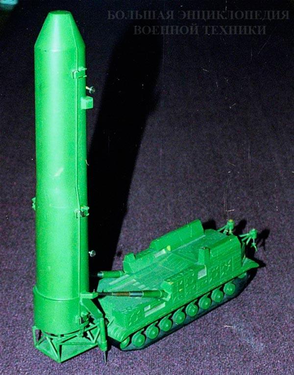 Модель проекта СПУ 8У253 с ракетойРТ-15, Музей истории и техники ОАО Кировский завод, 2001 г.