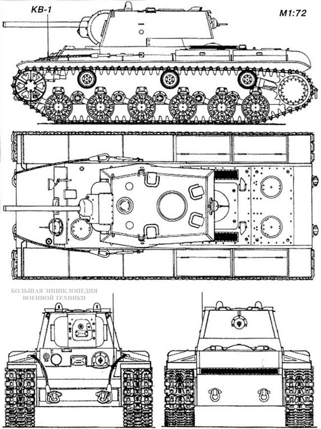Общий вид танка КВ-1