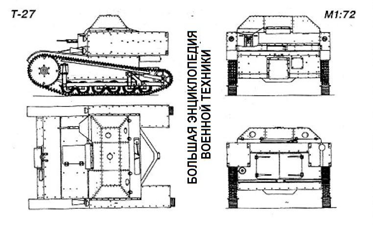 Общий вид танкетки Т-27