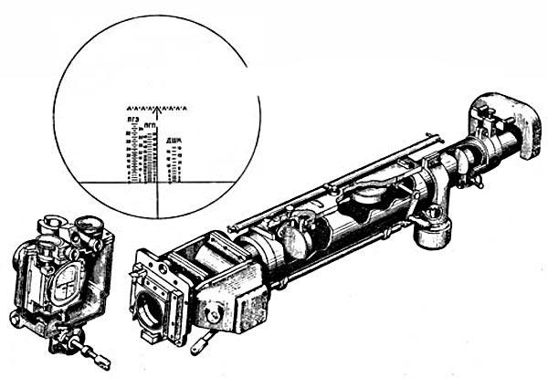 Телескопический шарнирный прицел ТШ-45 обр. 1945 г