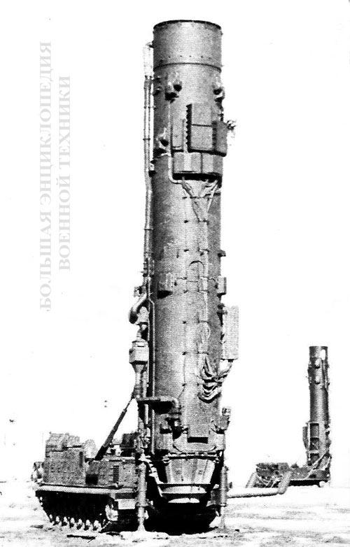 Второй вариант СПУ комплекса - 15У59 с ТПК на стартовой позиции