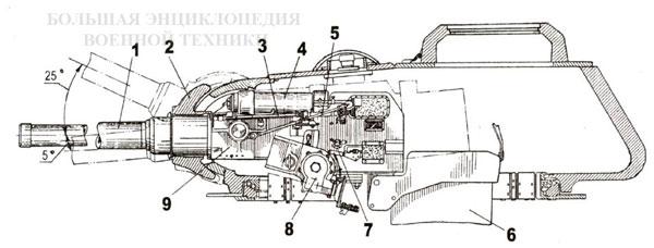 Установка пушки Д-5Т
